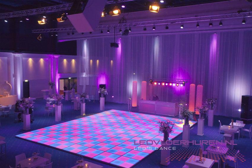 Verlichte dansvloer huren bedrijfsfeest